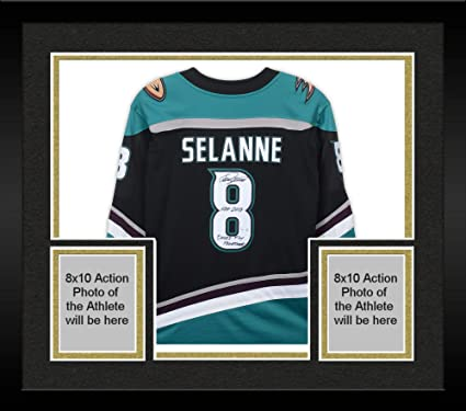newest 0ede9 bcd4f Framed Teemu Selanne Anaheim Ducks Autographed Throwback ...