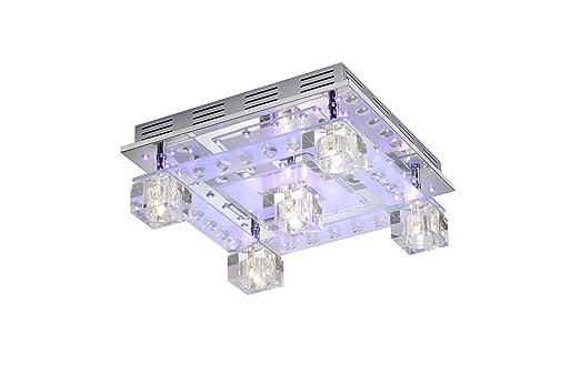 Decken Leuchte Glas Wrfel Wohnzimmer Lampe Kristall Deko LED Leuchten Direkt 50377 17