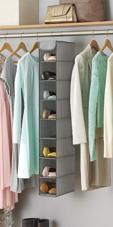 Amazon.com: Whitmor Hanging Shoe Shelves   8 Section   Closet Organizer    Grey: Home U0026 Kitchen