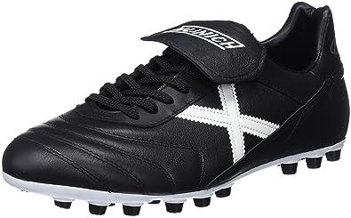 Munich Mundial U25, Chaussures de Futsal mixte adulte, Noir (Noir/Jaune), 41 EU