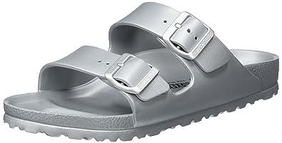 6QV7Usv2n2 Unisex-Erwachsene Arizona Eva Pantoletten, Silber (Metallic Silver), 41 EU