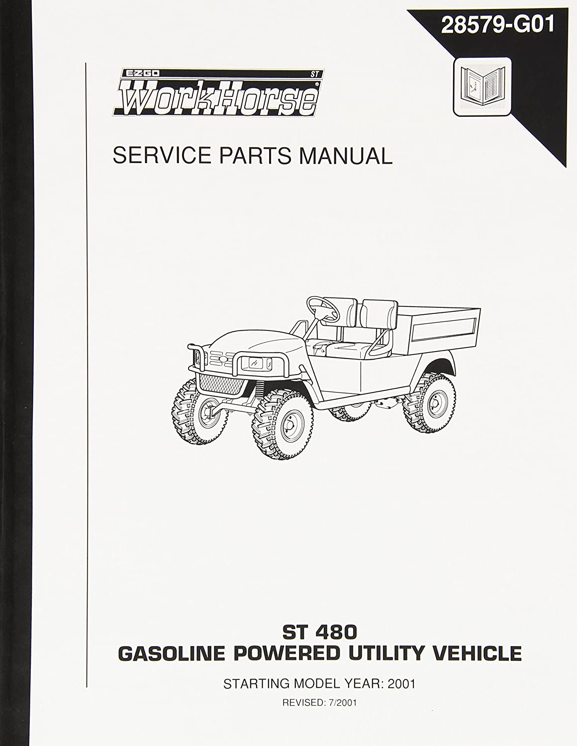 Amazon.com : EZGO 28579G01 2001-2002 Service Parts Manual for ST 480  Gasoline Powered Utility Vehicles : Outdoor Decorative Fences : Garden &  Outdoor