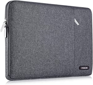 HSEOK 13-13.3 Inch Laptop Sleeve Case, Environmental-Friendly Spill-Resistant Sleeve for 13-Inch MacBook Air 2012-2017, MacBook Pro Retina 2012-2015/Pro 2012 A1278 and Most 14-Inch Laptop, Linen Gray