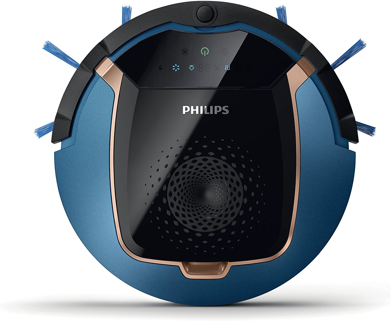 Philips FC8812/01 aspiradora robotizada Sin bolsa Negro, Azul 0,4 ...