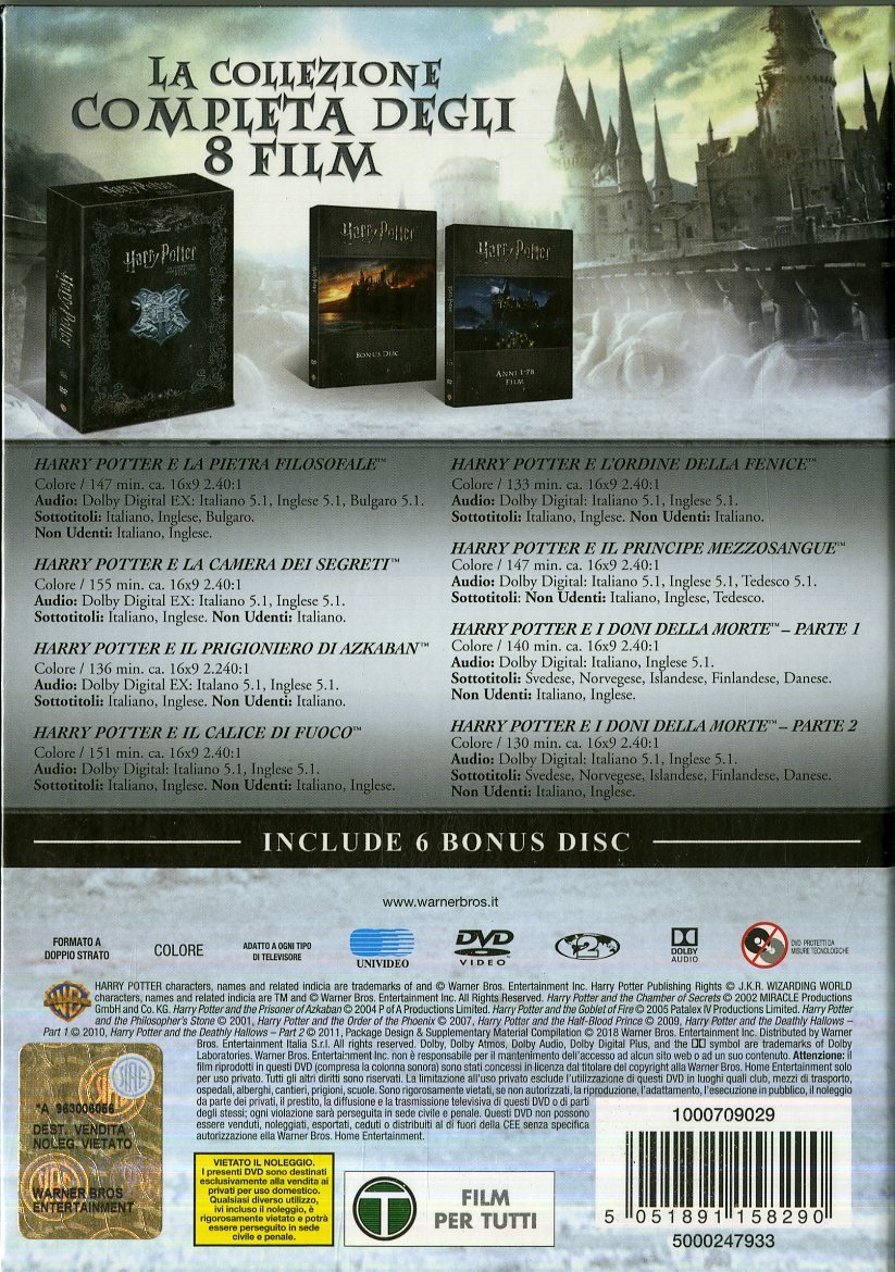 Harry Potter Collection Limited Edition 14 Dvd Italia: Amazon.es