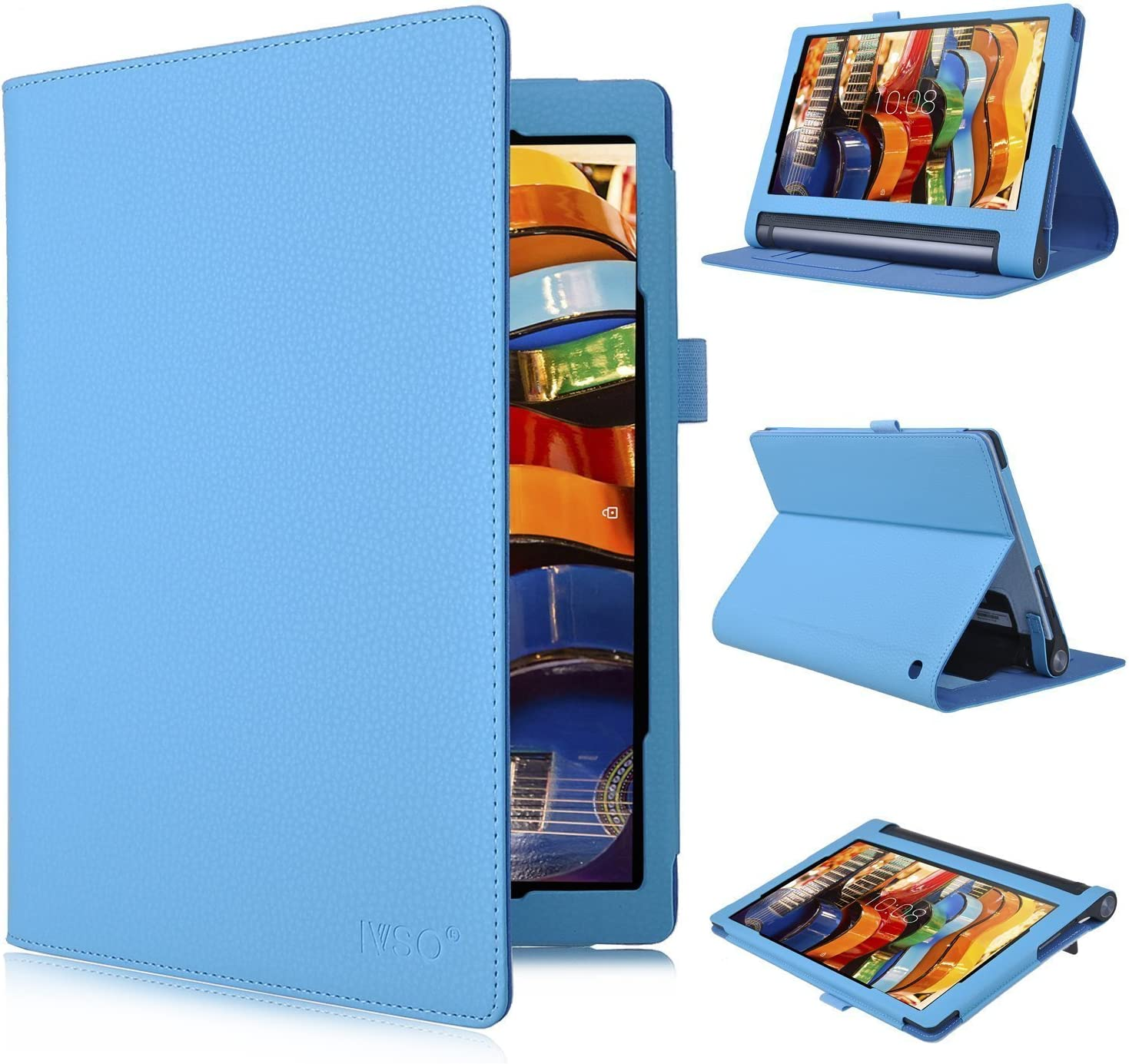 Lenovo Yoga Tab 3 Plus 10 Case Ivso High Quality Pu Amazon De Computers Accessories