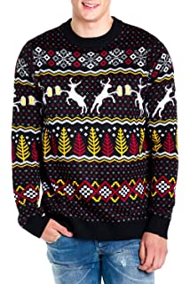 tipsy elves mens deer with beer christmas sweater black caribrew ugly christmas sweater
