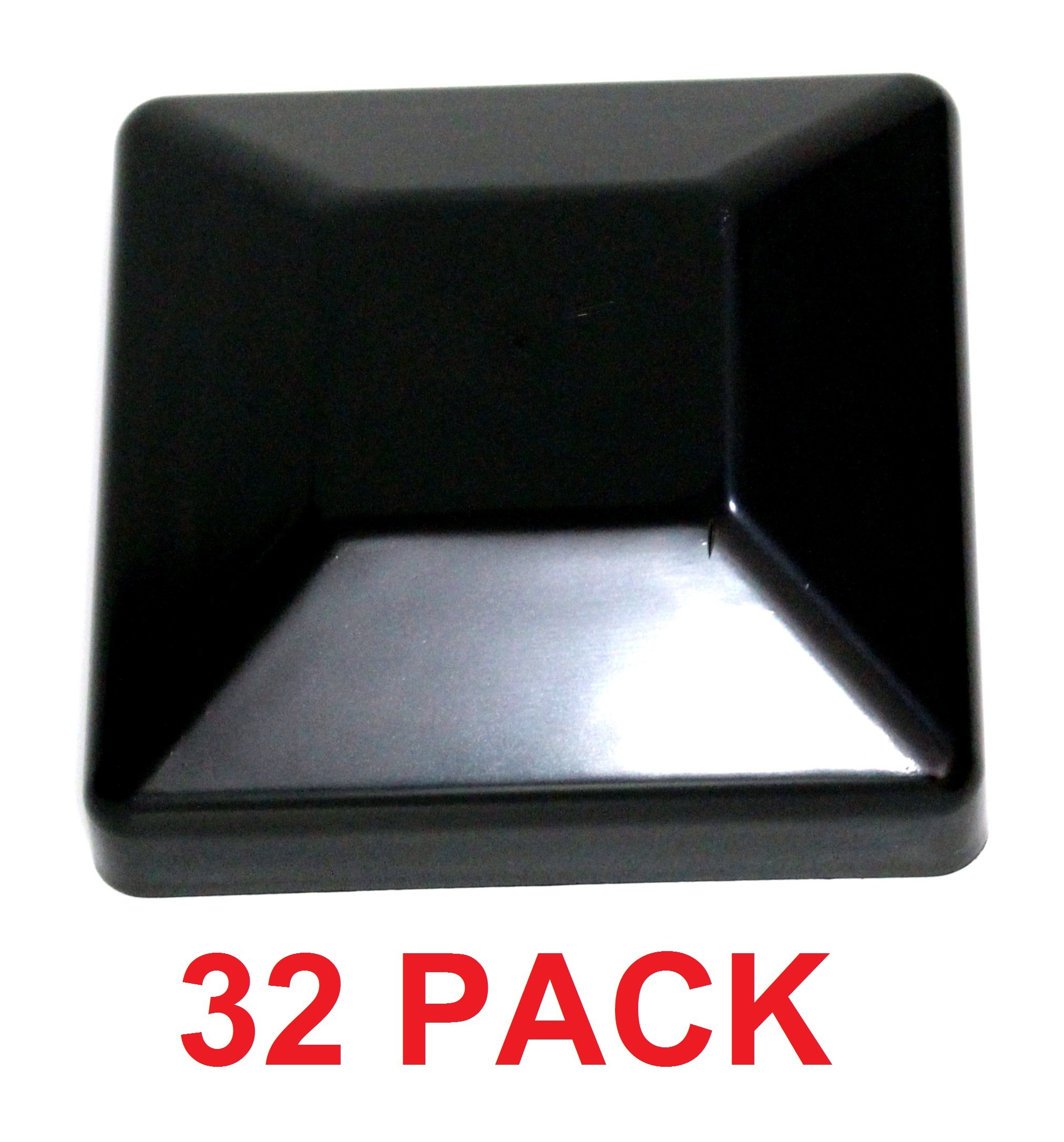 JSP Manufacturing Plastic New Fence Post Black Caps 4X4 (3 5/8) Pressure Treated Wood Made In USA MULITPACK WHOLESALE Bulk (32)