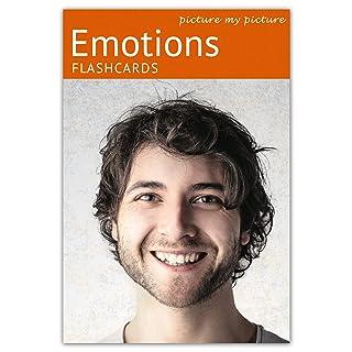Picture My Picture Sentimenti e Emozioni Flash Cards | Carte Linguaggio Inglese per Bambini e Adulti | Materiale ABA Autismo - Giochi Educativi Autismo