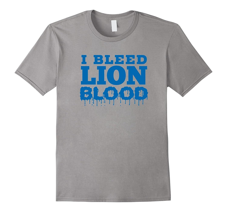 I BLEED LION BLOOD Blue T Shirt-FL