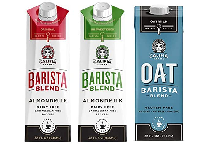 Califia Farms Barista Blend Paquete variado de leche de ...