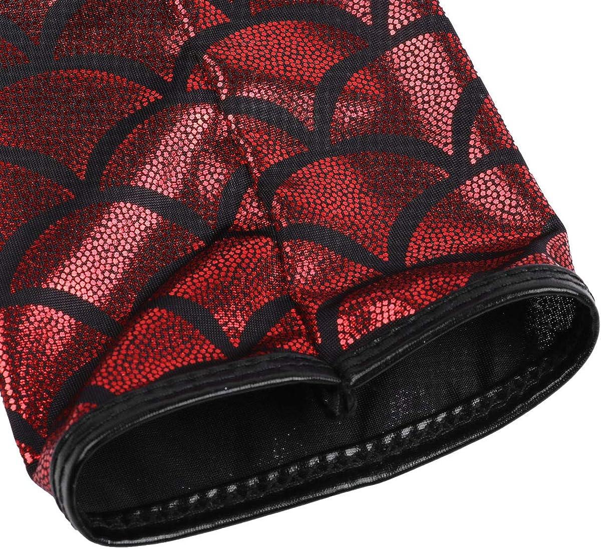 inlzdz Damen Gl/änzend Handschuhe Metallic Fingerlose Lange Handschuhe Wetlook Lederhandschuhe Tanz Party Clubwear Kost/üm 16 Farben
