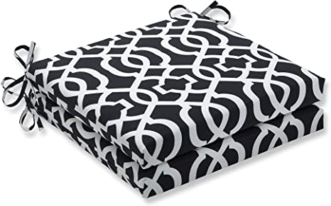 Amazon Com Pillow Perfect Outdoor Indoor New Geo Black White Squared Corners Seat Cushion 20x20x3 Set Of 2 Home Kitchen