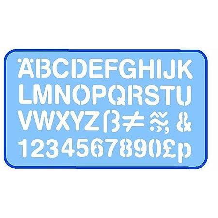 A-Z Buchstaben groß Signierschablonen Größe: 80 mm