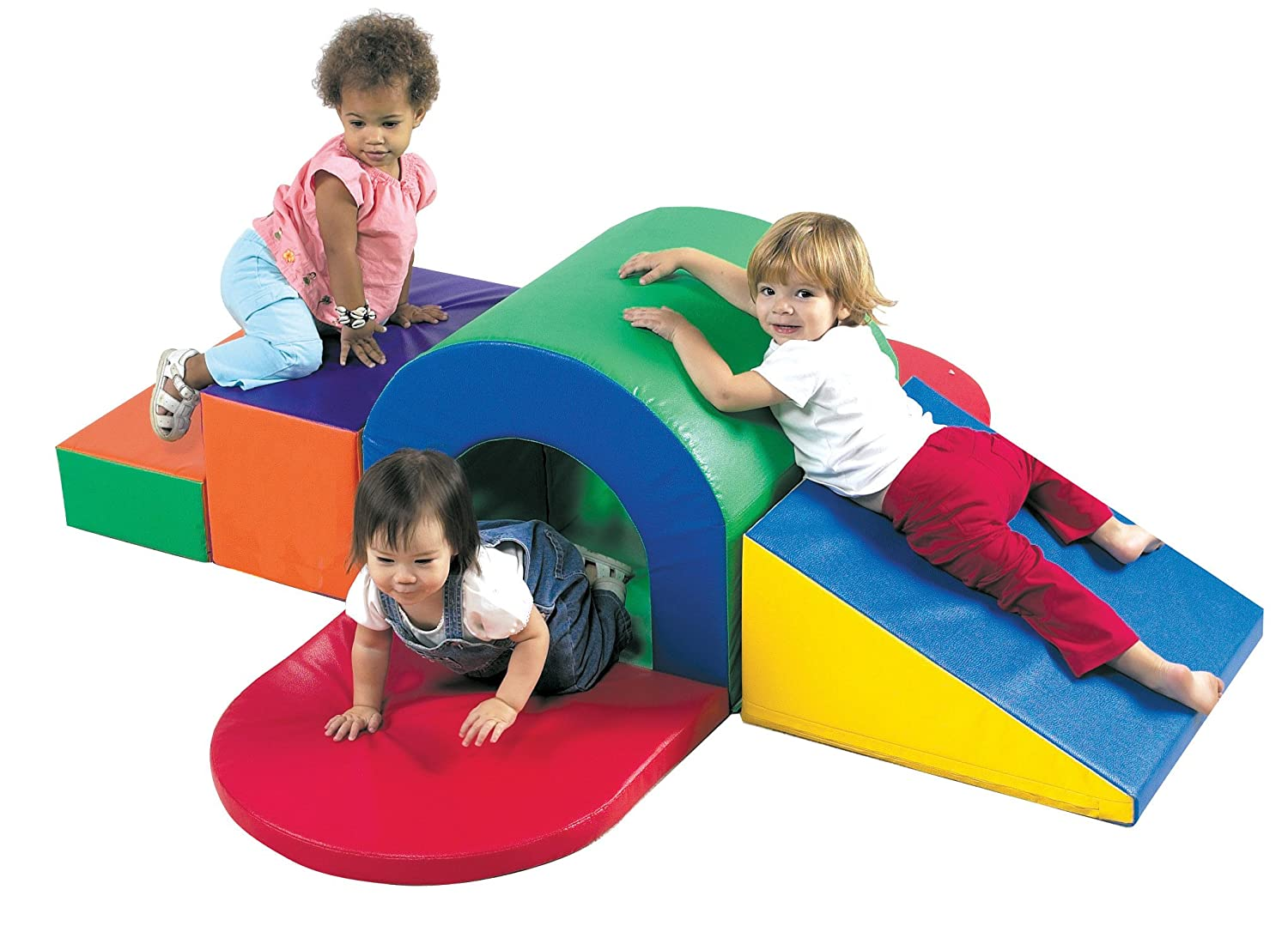 B000IQ5TAC Childrens Factory Alpine Tunnel Slide, 71 by 70 by 20 – Versatile Unit Perfect for Learning to Crawl, Climb, Balance – Easy to Assemble and Clean – Safe and Fun Active Play Environment (CF322-150) 81z20Jscg9L._SL1500_