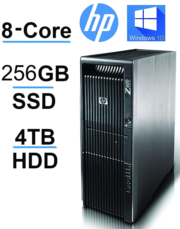 HP Z600 2 X Quad Xeon upto 3 33GHz, 256GB SSD, 4TB HDD, 24GB RAM,USB  3(Renewed)