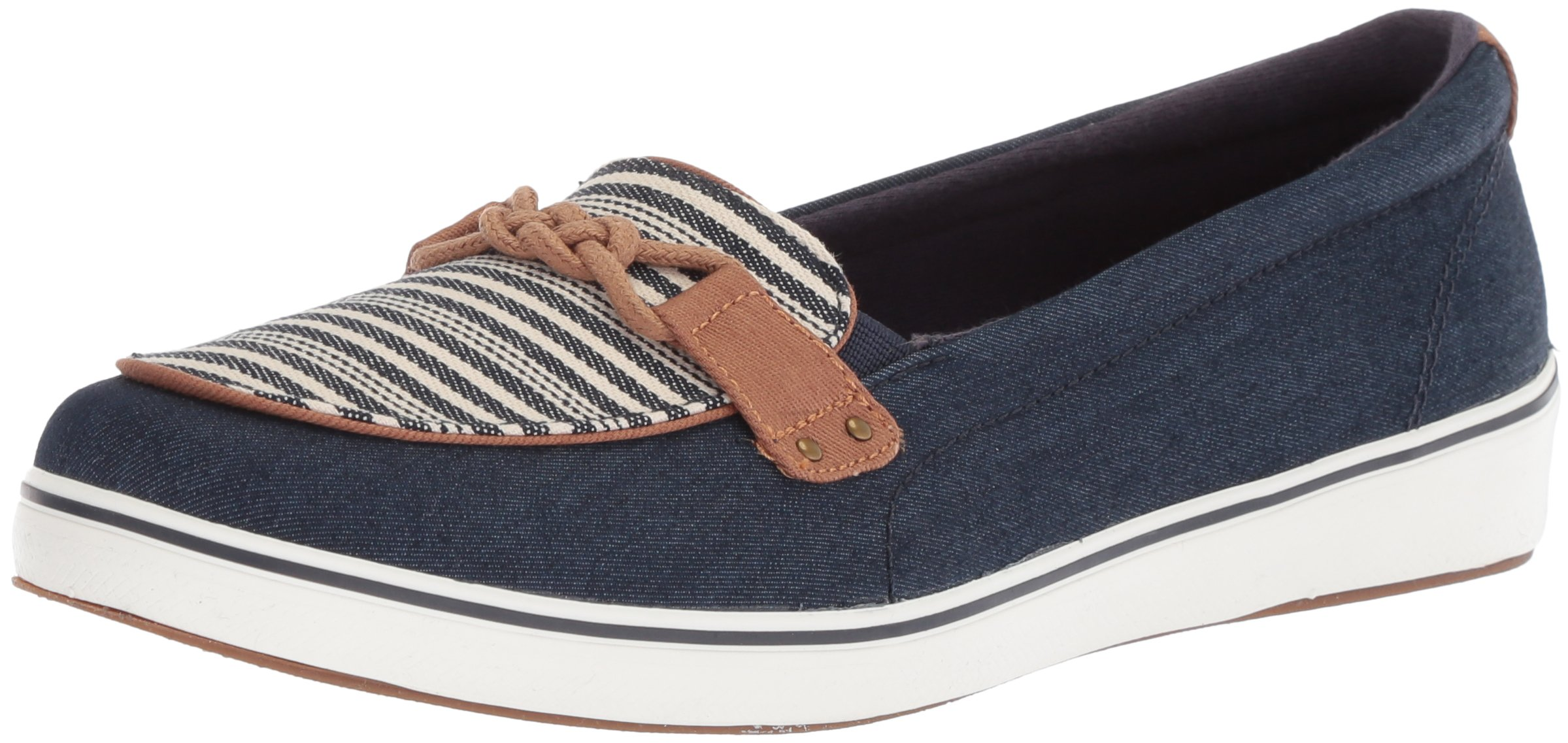 Grasshoppers Women's Windham Stripe Sneaker, Peacoat Navy, 6 W US