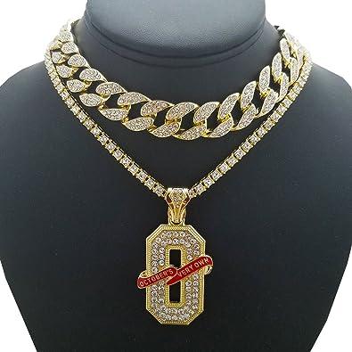 Hip hop ovo o pendant w 18 full iced cuban 1 row diamond hip hop ovo o pendant w 18quot full iced cuban 1 aloadofball Choice Image