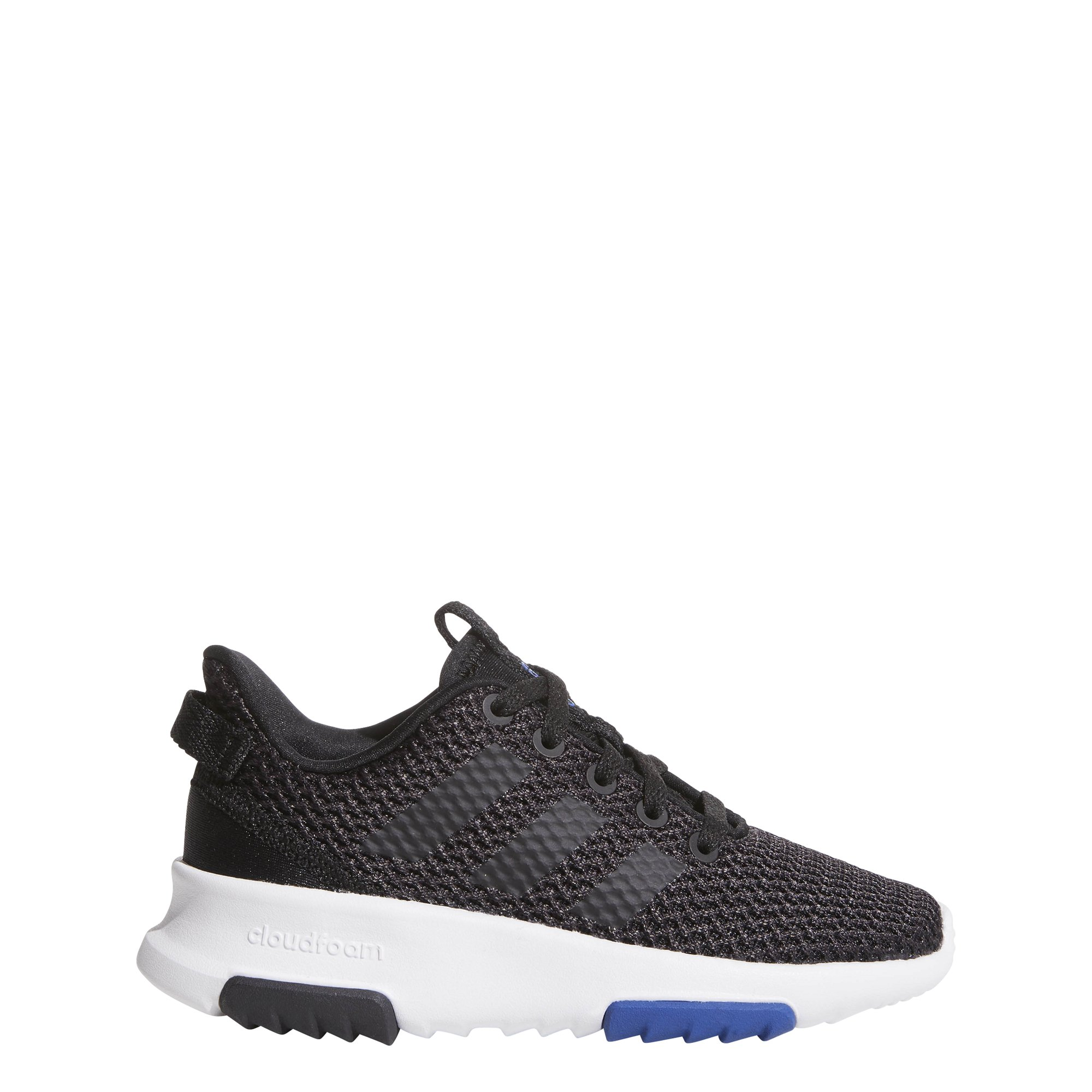 adidas Kids CF Racer TR Running Shoe, Utility Black/Black/Running White/Collegiate Royal, 4 M US Big Kid