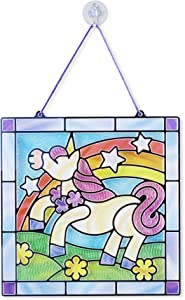 Melissa & Doug Stained Glass Made Easy Activity Kit, Arts and Crafts, Develops Problem Solving Skills, Unicorn, 70+ Stickers, Great Gift for Girls and Boys - Best for 4, 5, 6 Year Olds and Up