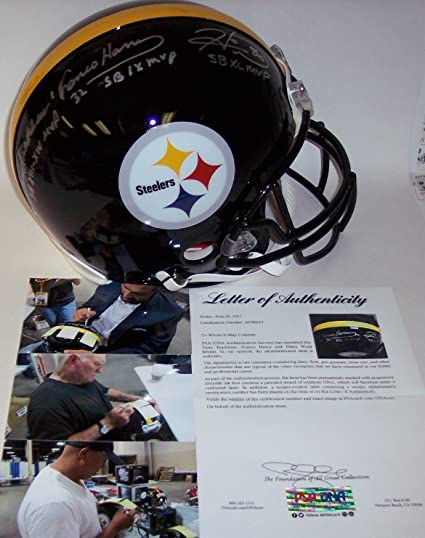 4b21d82167d Image Unavailable. Image not available for. Color: Terry Bradshaw, Franco  Harris & Hines Ward Autographed Hand Signed Pittsburgh Steelers ...