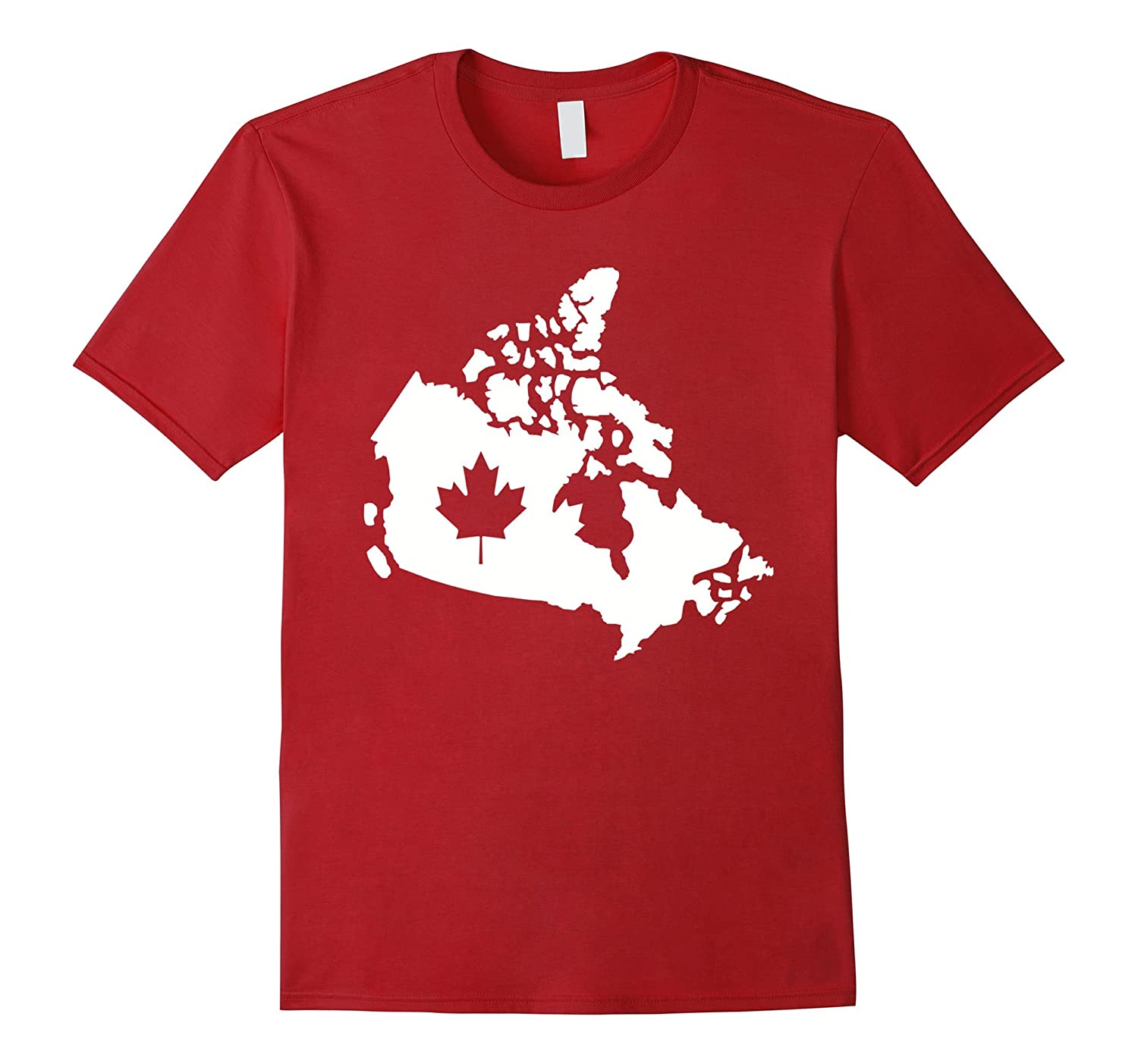 Canada map with maple leaf T-Shirt-CL