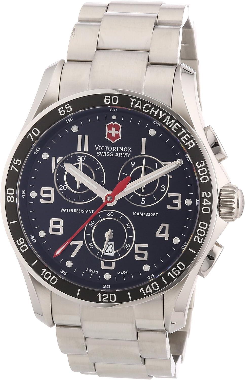 Victorinox Swiss Army Men s 241443 Chron Classic Black Chronograph Dial Watch