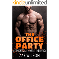 The Office Party: A Straight to Gay M/M First Time Erotica