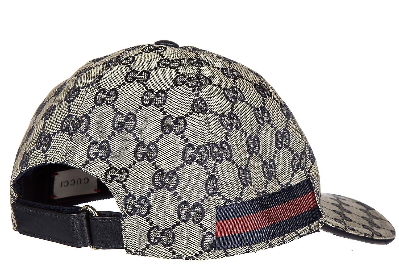 Gucci sombrero en algodón ajustable hombre nuevo blu: Amazon.es: Zapatos y complementos