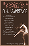 THE COMPLETE D.H. LAWRENCE NOVELS COLLECTION (illustrated and unabridged)
