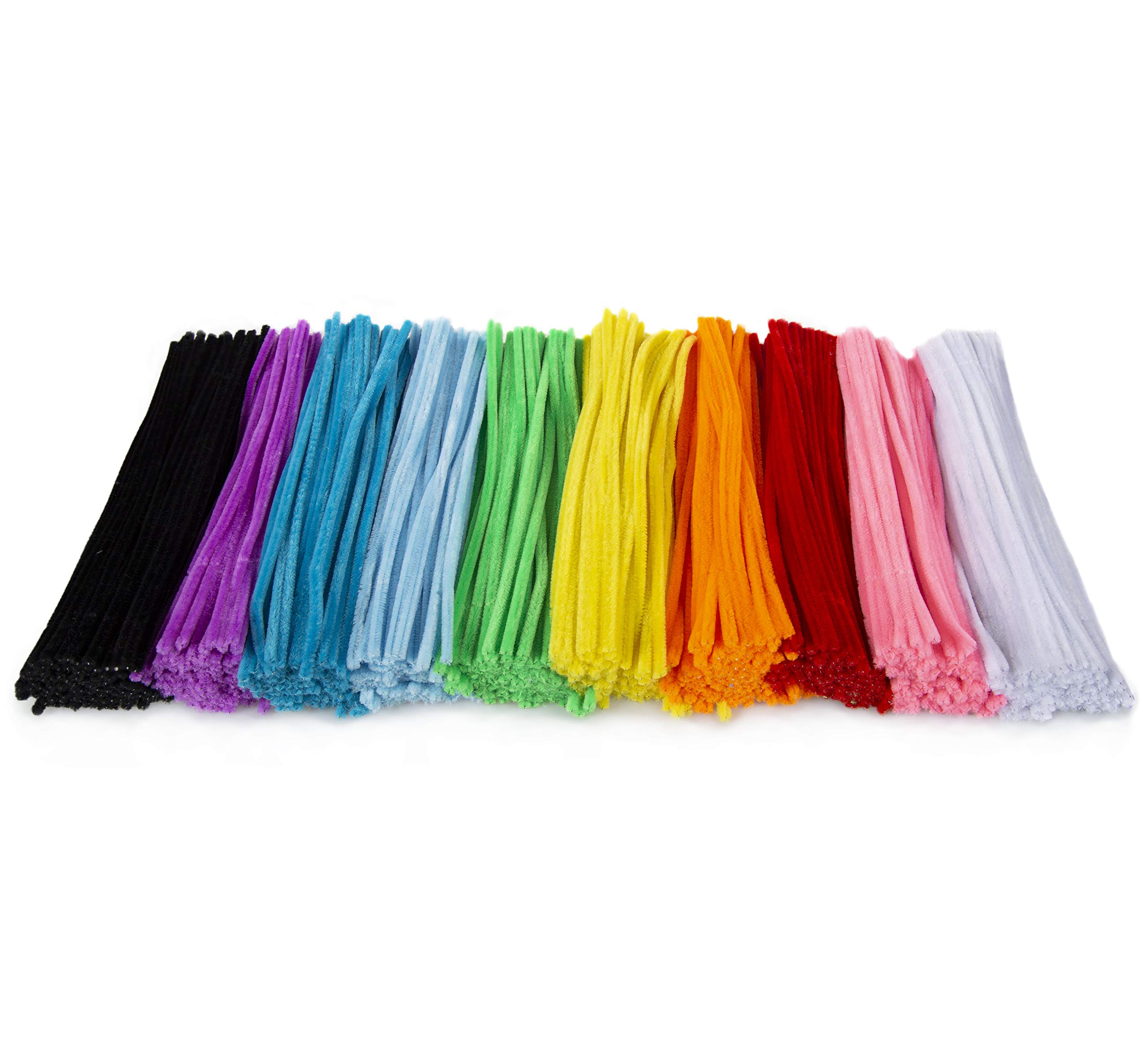 Zees 1,000 Pipe Cleaners in 10 Assorted Colors, Value Pack of Chenille Stems for DIY Arts and Craft Projects and Decorations - 6mm x 12 Inches by zees products (Image #5)