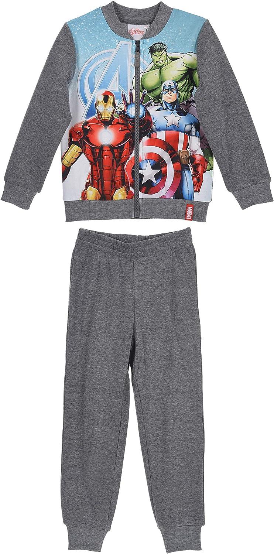 Marvel The Avengers Niños Joggingsuit / Chándal. (Gris, 10 Años ...