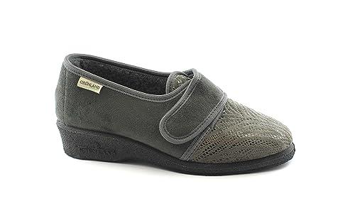 GRUNLAND IOLE PA0170 Zapatillas Grises Zapatillas de Mujer Fieltro de Lana Real 38: Amazon.es: Zapatos y complementos