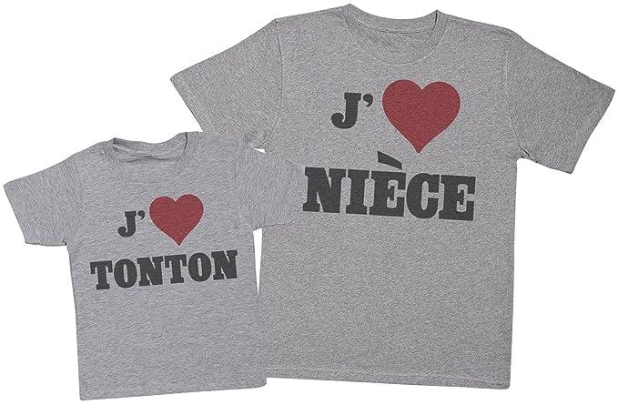 Love Nièce Love Tonton - Ensemble Tonton enfants Cadeau - Hommes T-shirt et  enfants e6b0ac17665