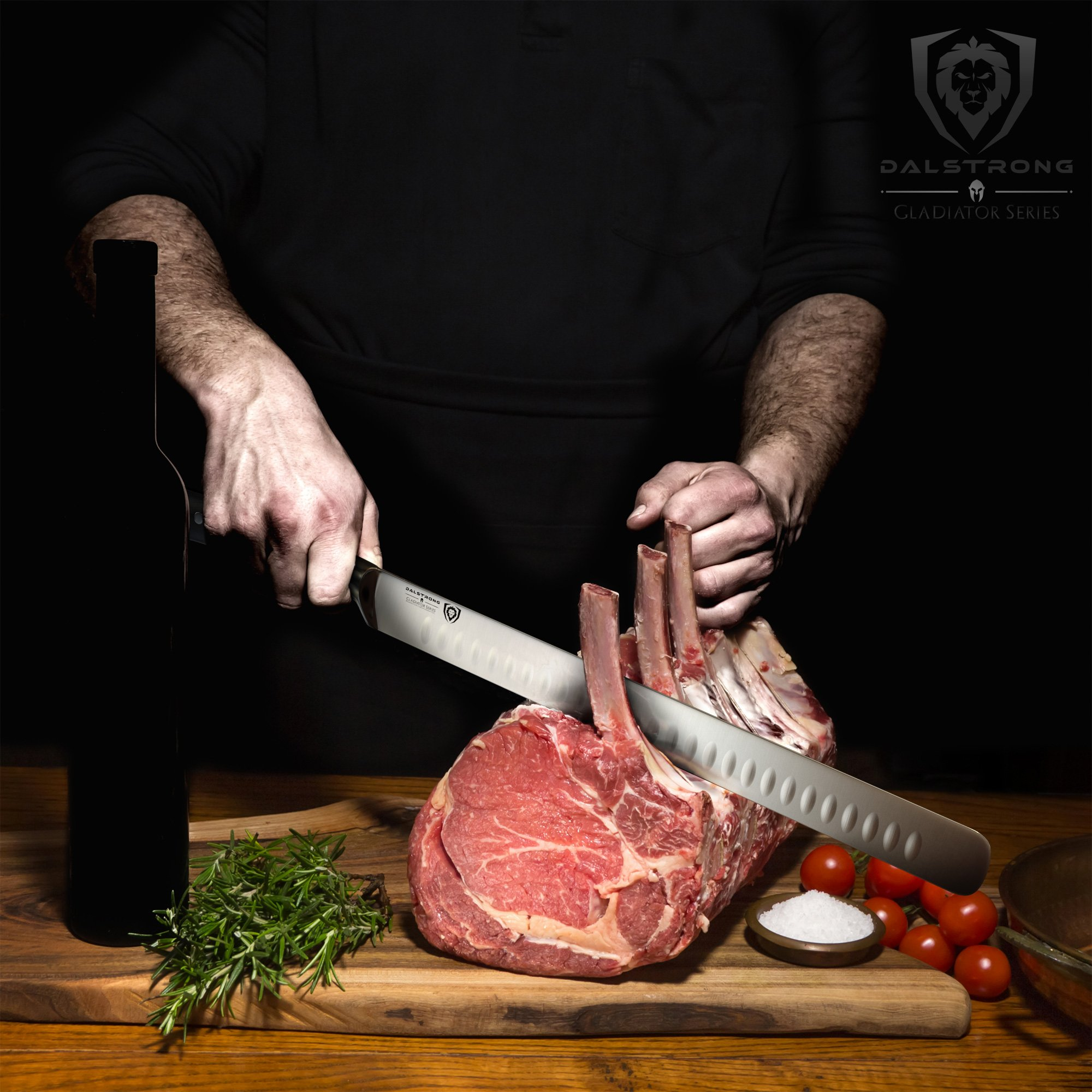 DALSTRONG Slicing Carving Knife - 12'' Granton Edge - Gladiator Series - German HC Steel - w/ Sheath by Dalstrong (Image #3)