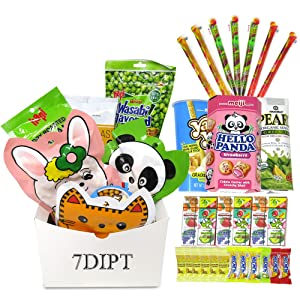 Asian Variety Snack Box Gift Basket for Adults, College Student & Military Care Package - Birthday Package for Dad, Men, Women, Boys, Girls, Teens, Kids (30 Snack Bundle)