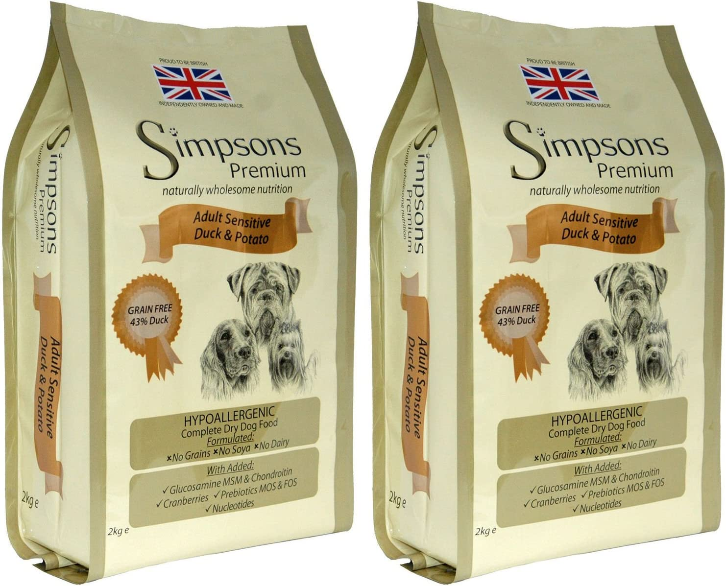 Simpsons - Comida seca para perros (2 unidades, 12 kg)