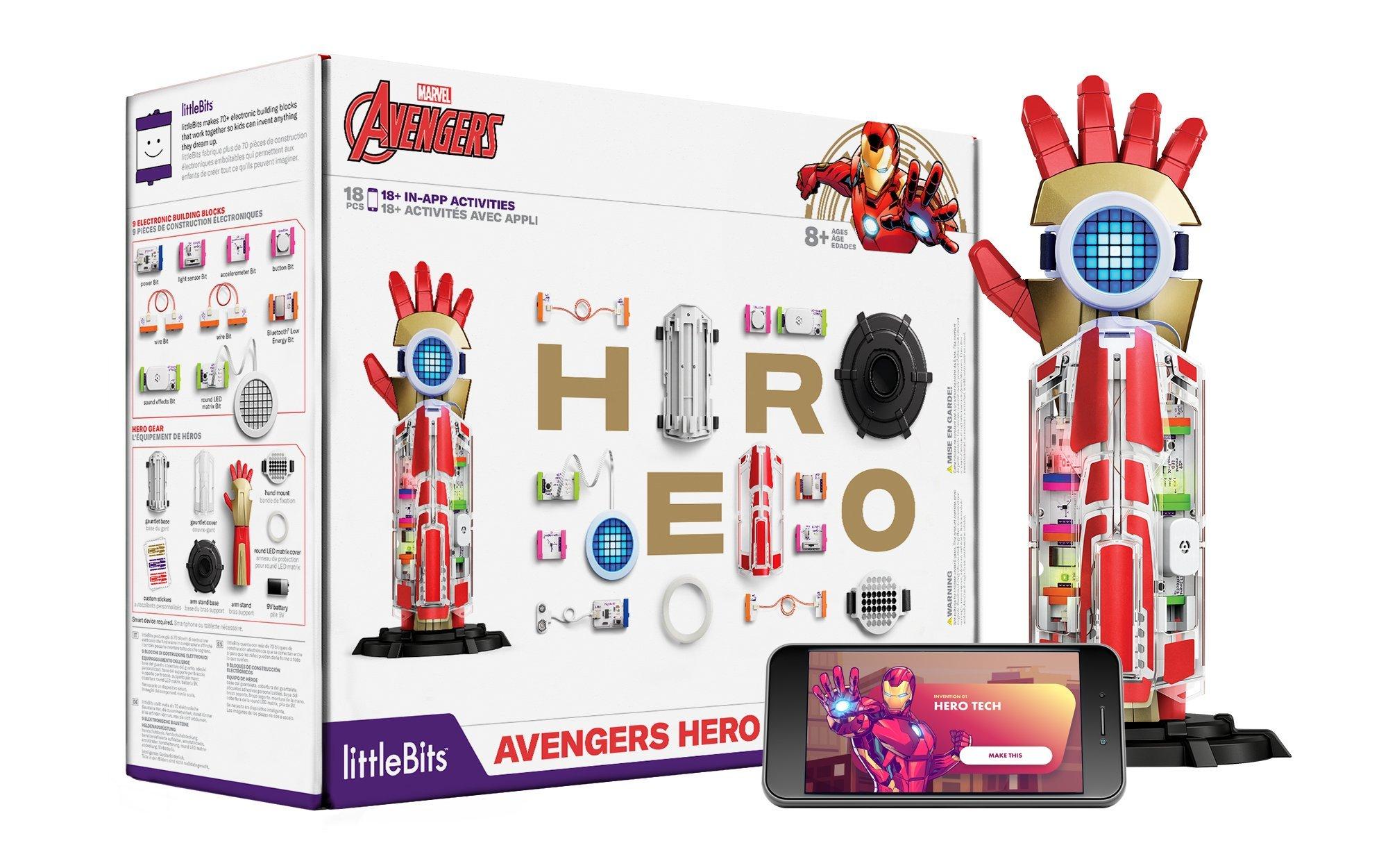 LittleBits héroe de Marvel Los Vengadores inventor Kit-construir su código súper héroe Gear &