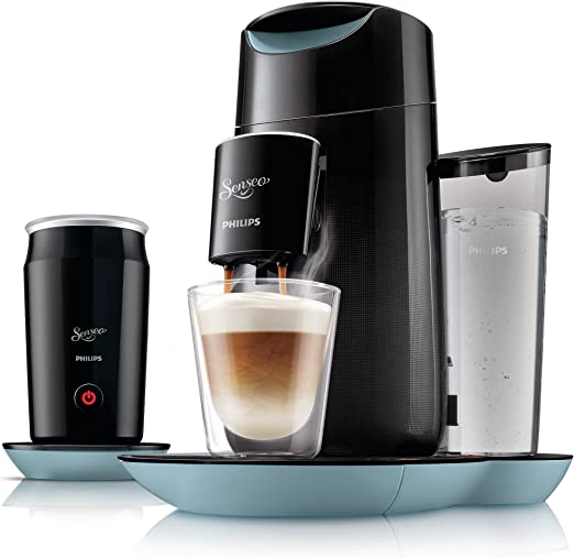 Philips Senseo Twist & Milk - Cafetera monodosis, color negro y ...
