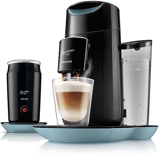 Philips Senseo Twist & Milk - Cafetera monodosis, color negro y ...