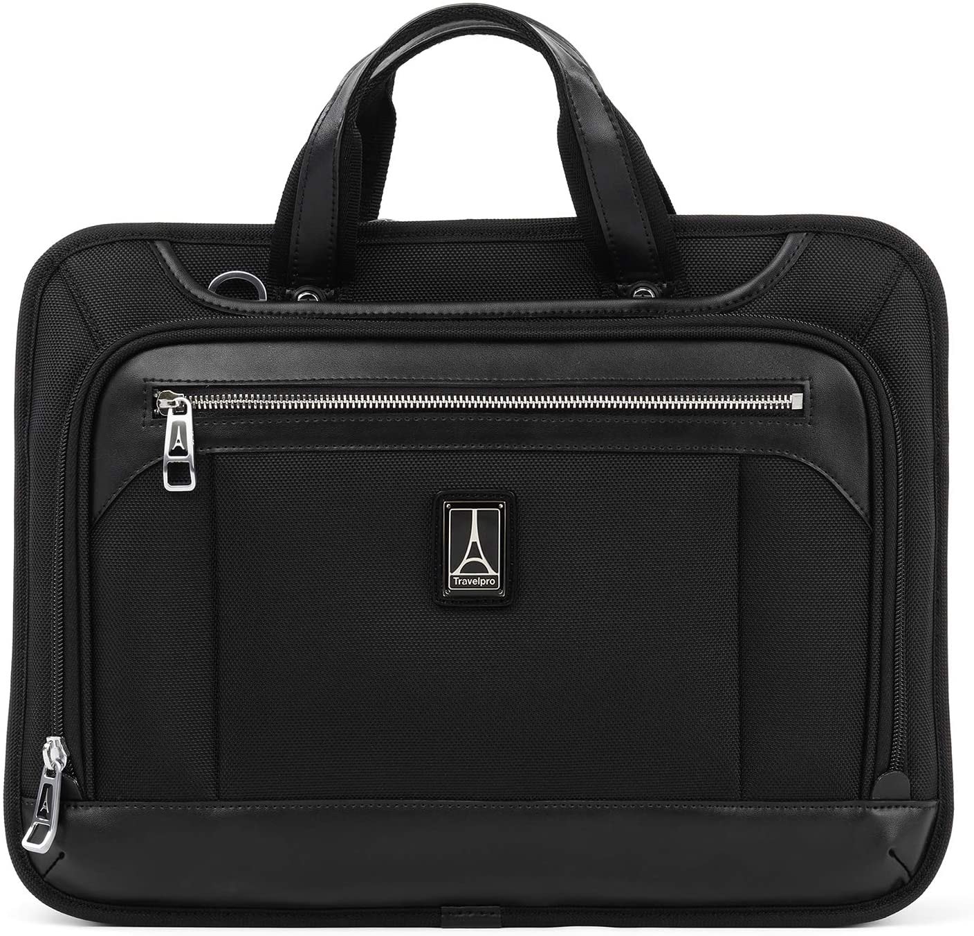 Travelpro Platinum Elite-Slim Business Laptop Briefcase, Shadow Black, 16-Inch
