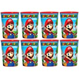 8 Pack Super Mario Brothers 16oz Plastic Cup Birthday Party Favors