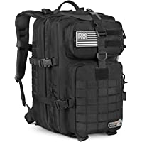 LEISONTAC Nylon and Heavy Duty Stitching Pack | Military Tactical Backpack | Extreme Water Resistant Small Rucksack | Hydration Bladder Compartment | Army Backpack for Hunting Hiking & Travel (Black)
