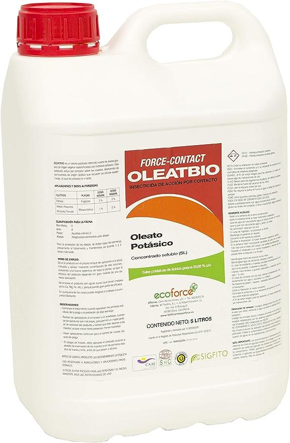 CULTIVERS Jabón Potásico de 5 l. Insecticida Ecológico con ...