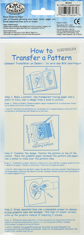 9X13 4//Pkg ROYAL BRUSH Grey Transfer Paper