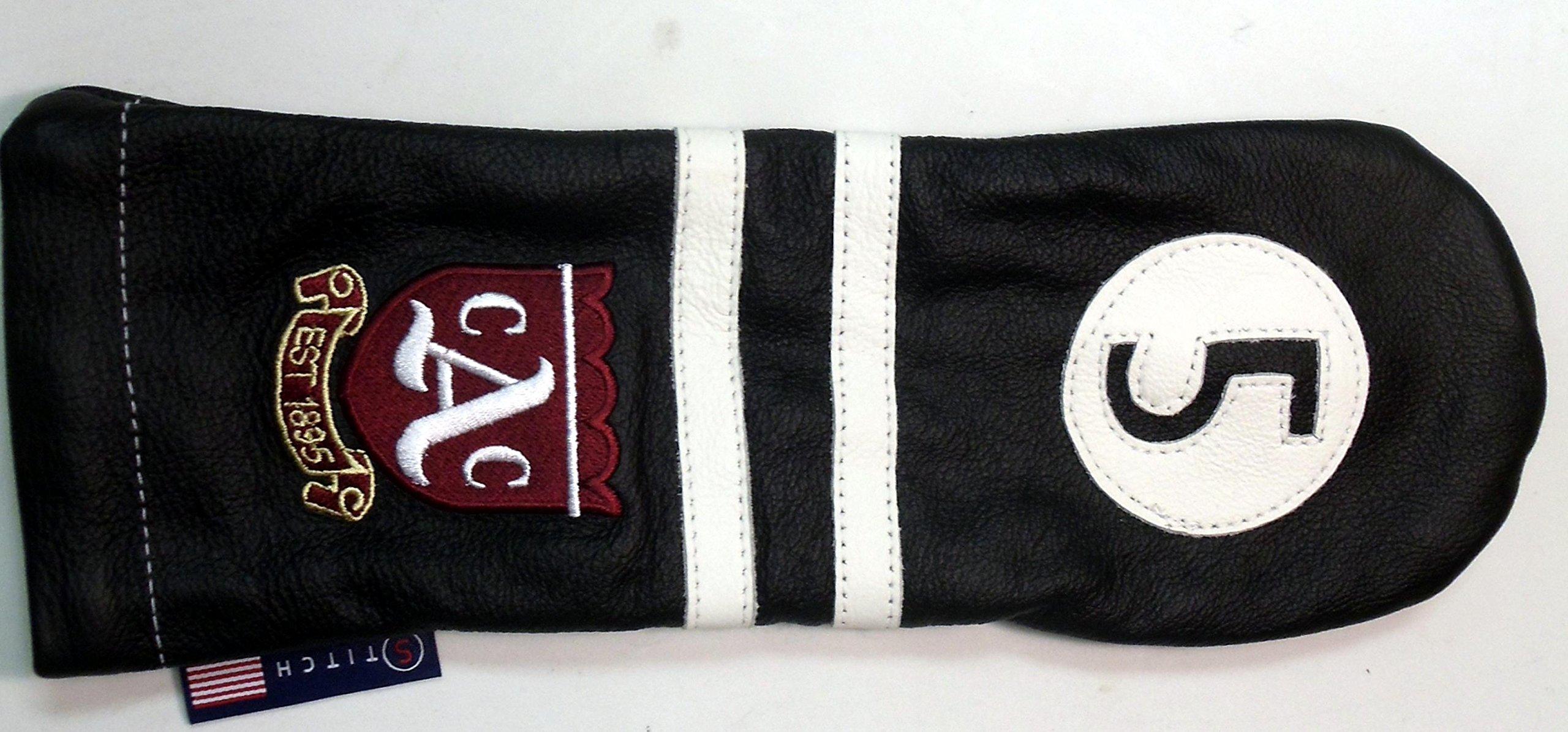 Stitch Golf Club Leather 5 FAIRWAY WOOD Headcover SAILING STRIPE Black logo US