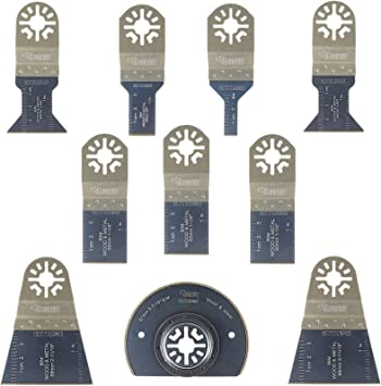 10 x SabreCut PRK10BM Corte de metales para multiherramienta para Bosch Fein No-StarLock Makita Milwaukee Parkside Ryobi multiherramienta Worx WorkZone Multi herramienta accesorios