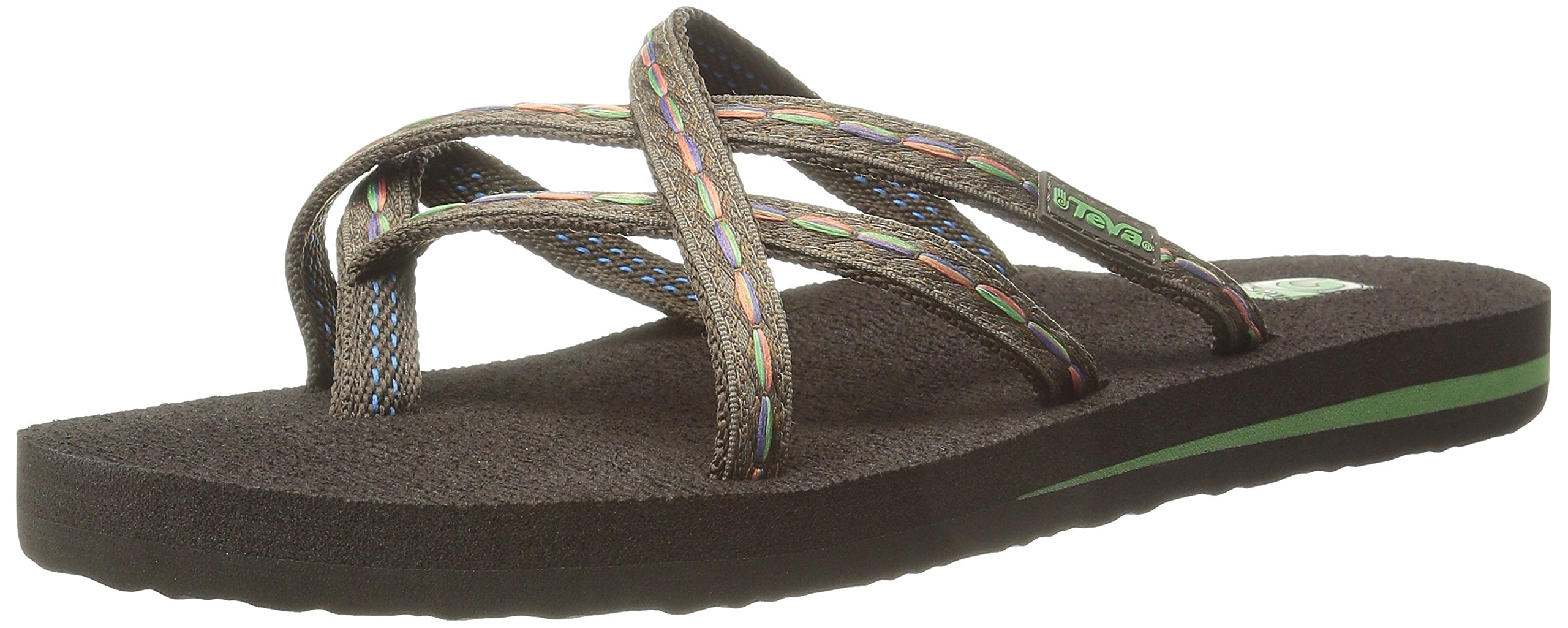 6e21f8a917b955 Galleon - Teva Women s Olowahu Flip-Flop - 8 B(M) US - Felicitas Brown