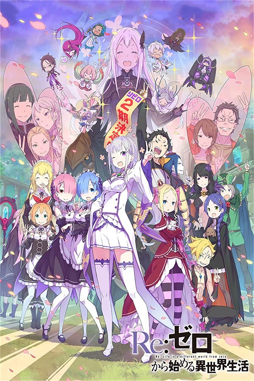 Anime Art Poster - Anime Wall Decoration - Re: Life in a Different World from Zero Poster - Japan Anime Tin Poster 12 x 8 inch