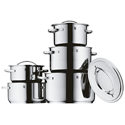 WMF Gala Plus - Set de 5 ollas, acero inoxidable